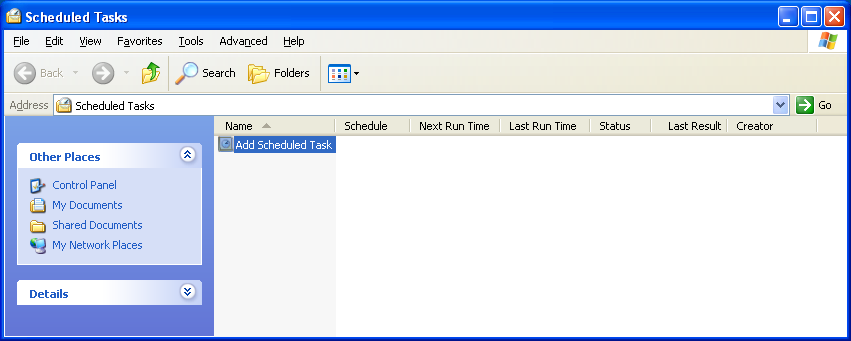XP Scheduled Tasks Dialog