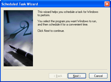 XP Scheduled Tasks Wizard