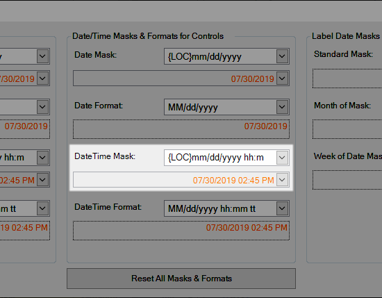 Date/Time Mask for Controls
