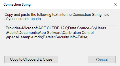 Show Connection String